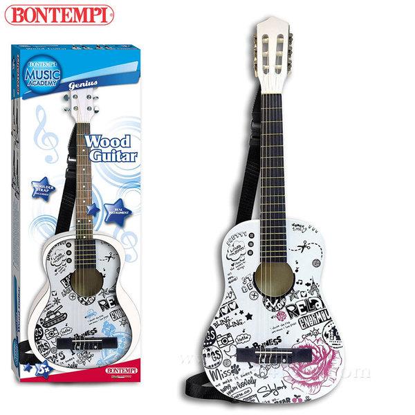 Bontempi - Детска дървена китара 85см 191292