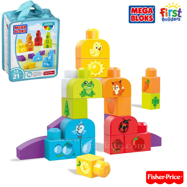 Fisher Price Mega Bloks - Моят първи строител Да научим цветовете CNH08