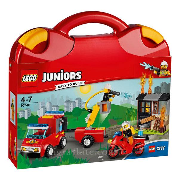 Lego 10740 Juniors City - Пожарникарски куфар
