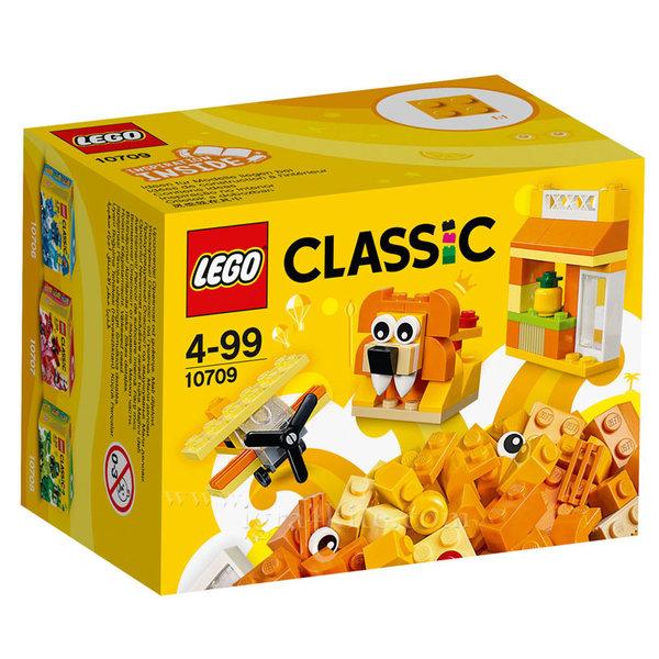 Lego 10709 Classic - Оранжеви строителни блокчета в кутия