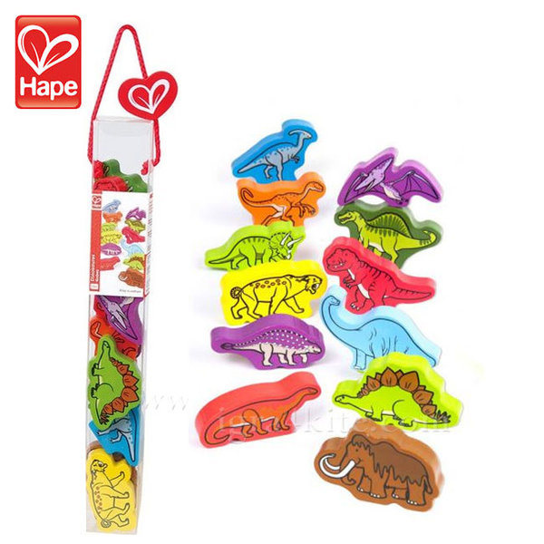 Hape - Дървени фигурки Динозаври H0910