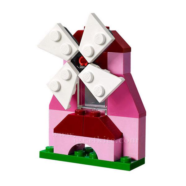 Lego 10707 Classic - Червени строителни блокчета в кутия