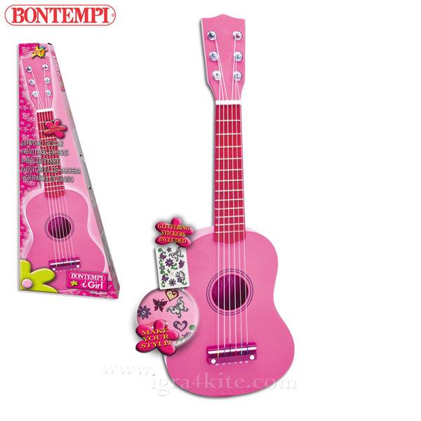 Bontempi - Детска дървена китара 55см 191289