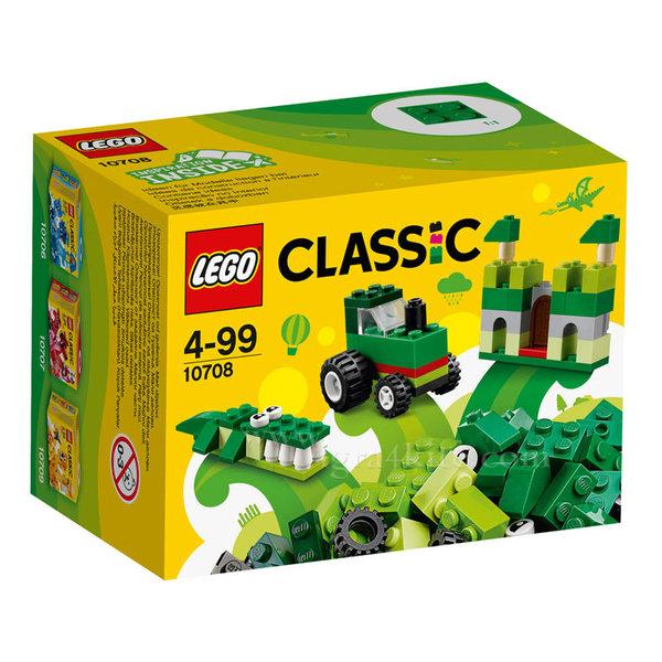 Lego 10708 Classic - Зелени строителни блокчета в кутия