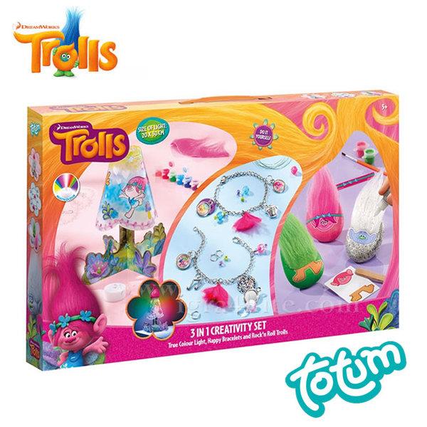 Totum Trolls - Креативен комплект 3в1 Тролчета 771048