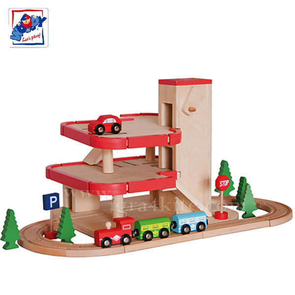 Woody - Дървен паркинг с влакче 91155