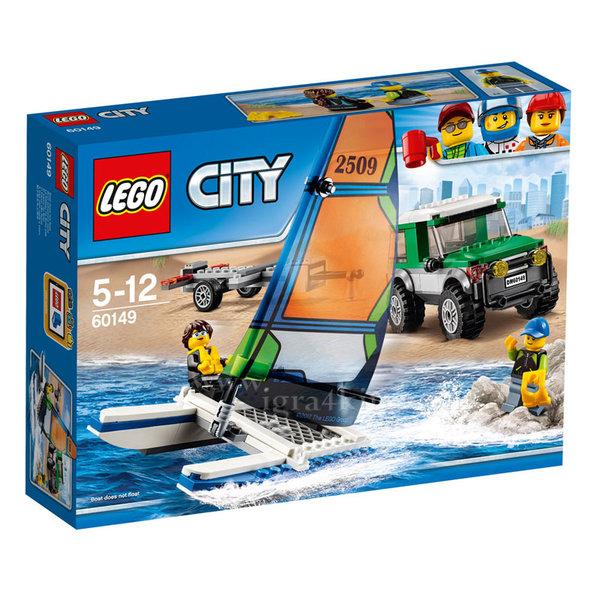 Lego 60149 City - 4x4 с катамаран