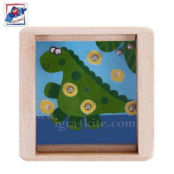 Woody - Дървен лабиринт с топчета Динозавърче 90767