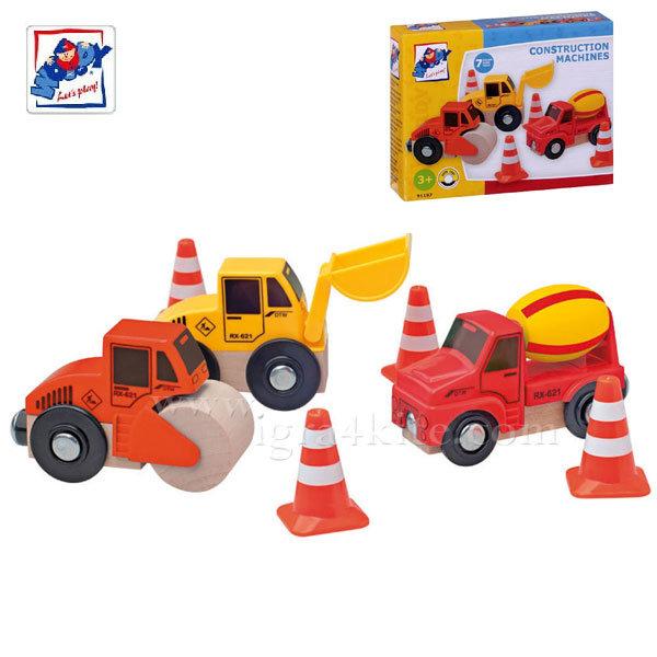 Woody - Комплект дървени строителни машини 91197