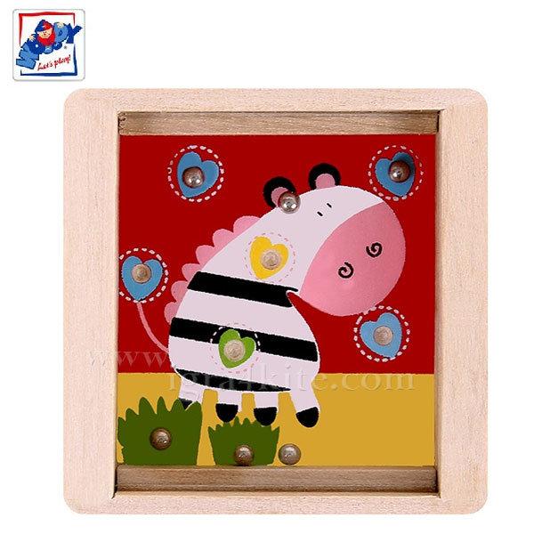Woody - Дървен лабиринт с топчета Зебра 90767