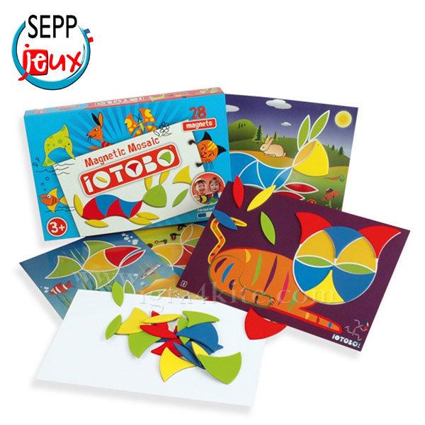 Sepp Jeux - Детска магнитна мозайка Basic 3+ 4ITB3