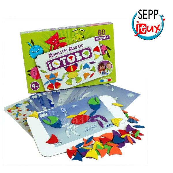 Sepp Jeux - Детска магнитна мозайка Basic 4+ 4ITB4