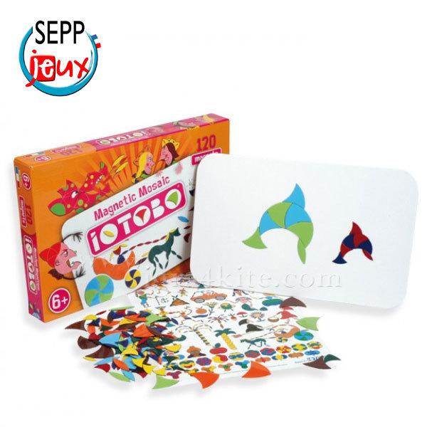Sepp Jeux - Детска магнитна мозайка Basic 6+ 4ITB6