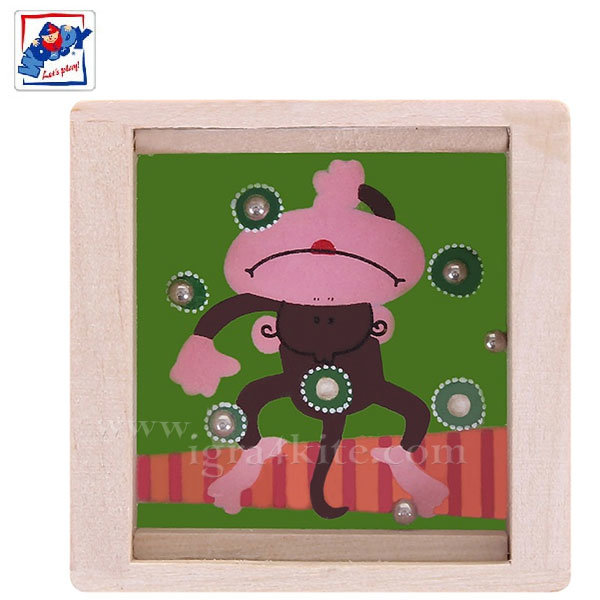 Woody - Дървен лабиринт с топчета Маймунка 90767