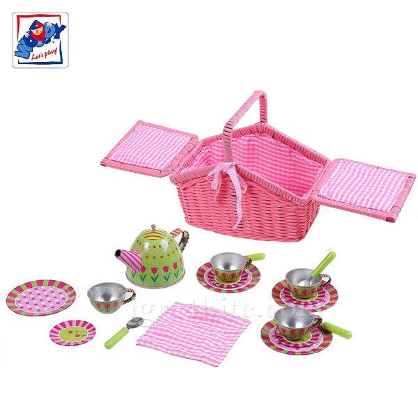 8362a58febc Woody - Комплект за чай Тренди в кошница 91318 - Детски играчки от ...