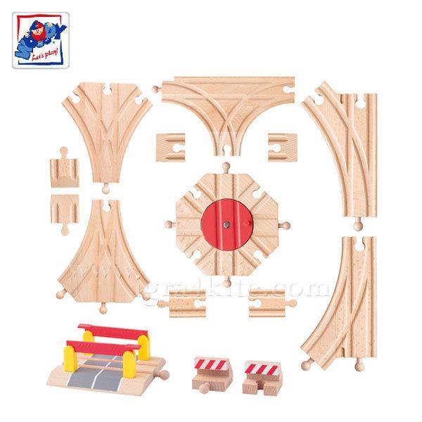 Woody - Комплект дървени релси 91813