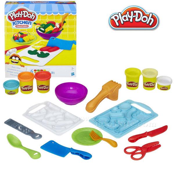 PlayDoh - Детски комплект Забавления в кухнята Направи салата b9012