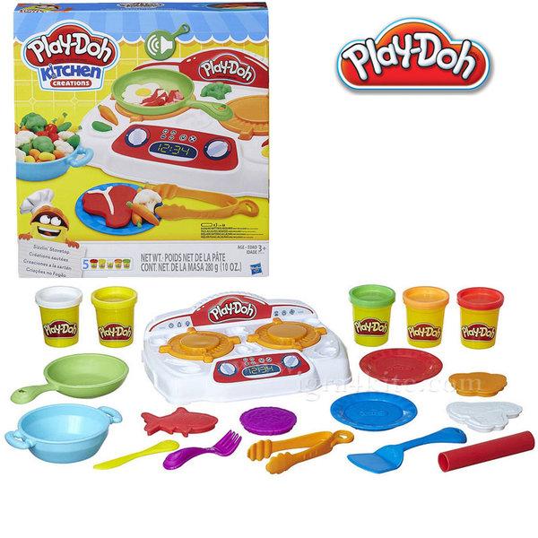 PlayDoh - Детски комплект Забавления в кухнята Приготви обяд b9014
