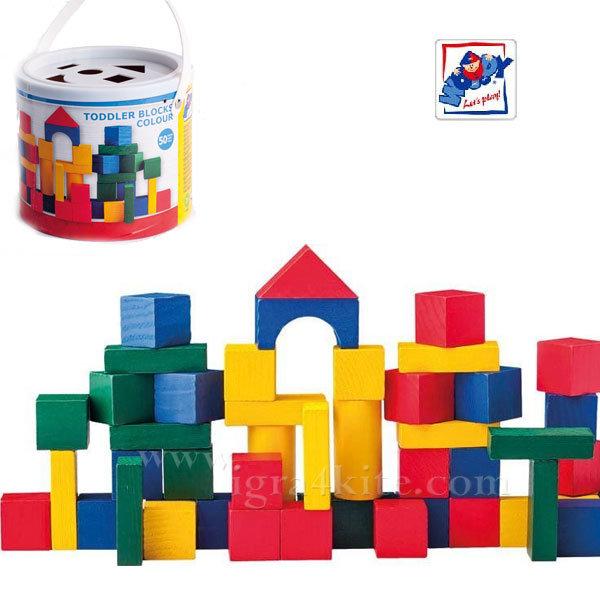 Woody - Детски дървен конструктор 50 части 95003