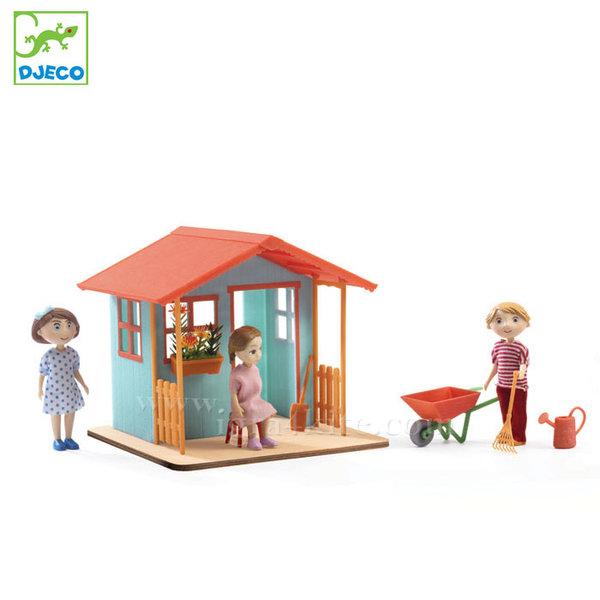 Djeco - Обзавеждане за куклена къща Градинска къща dj07835