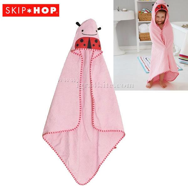 Skip Hop - Бебешка хавлия с качулка Zoo Калинката Ливи 235250