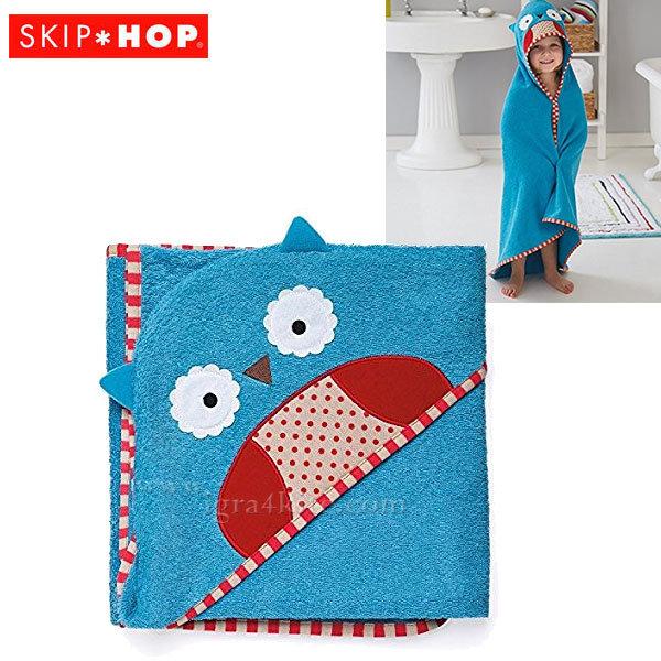 Skip Hop - Бебешка хавлия с качулка Zoo Бухалчето Отис 235253