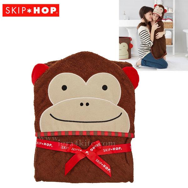 Skip Hop - Бебешка хавлия с качулка Zoo Маймунката Маршал 235254