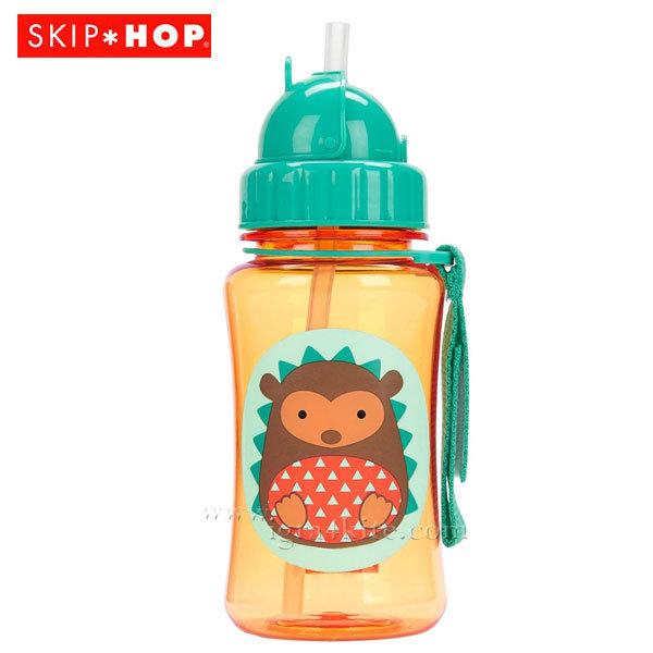 Skip Hop - Детска бутилка със сламка Zoo Таралежът Хъдсън 252327