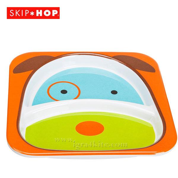 Skip Hop - Детска двойна чинийка Zoo Кученцет Дарби 252151