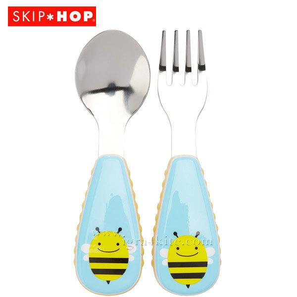Skip Hop - Комплект виличка и лъжичка Zoo Пчелата Бруклин 252351