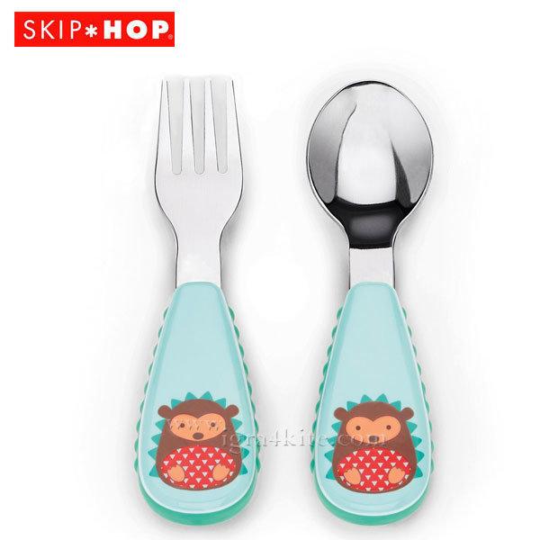 Skip Hop - Комплект виличка и лъжичка Zoo Таралежа Хъдсън 252363