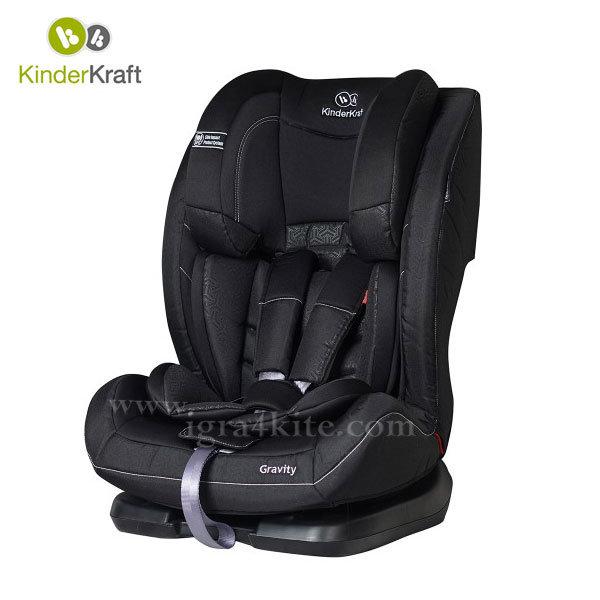 Kinderkraft - Столче за кола Gravity 9-36 кг черно 99191