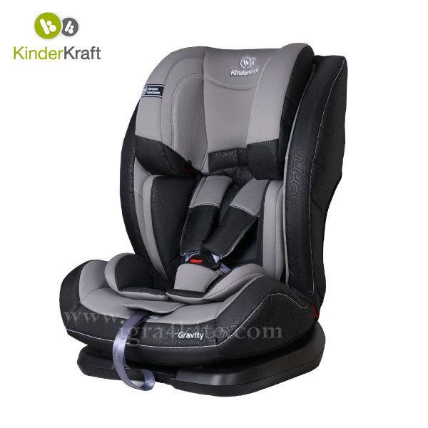 Kinderkraft - Столче за кола Gravity 9-36 кг сиво 99192