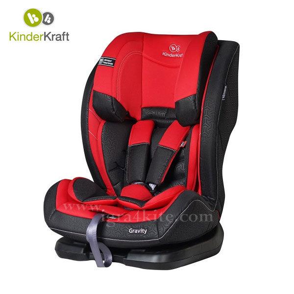 Kinderkraft - Столче за кола Gravity 9-36 кг червено 99193