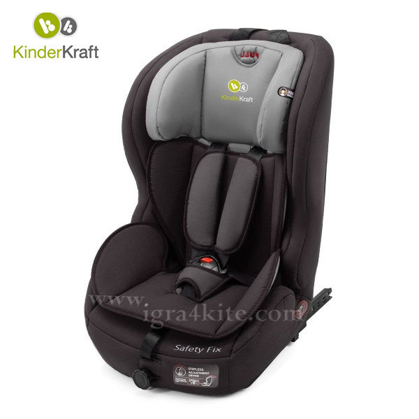 Kinderkraft - Столче за кола Safety Fix 9-36 кг с IsoFix черно 99197