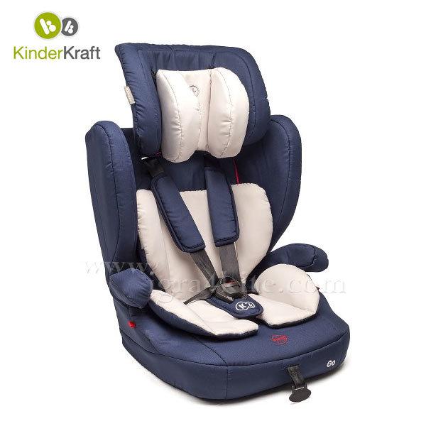 Kinderkraft - Столче за кола Go 9-36 кг синьо 99203
