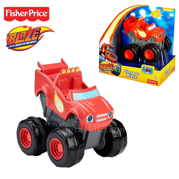 Fisher Price Blaze and the Monster - Количка Slam&Go Blaze cgk22