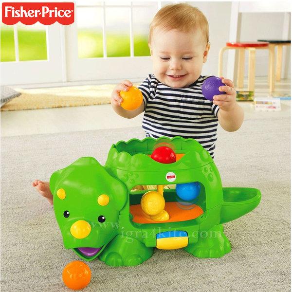Fisher Price - Забавен динозавър с изскачащи топки dhw03