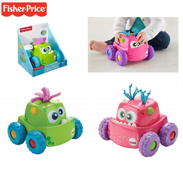 Fisher Price - Бебешко камионче Забавно чудовище drg16