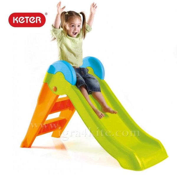 Keter - Детска пързалка Boogie Slide зелено/оранжево 223622