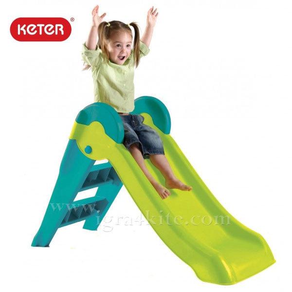 Keter - Детска пързалка Boogie Slide зелено/синьо 220156