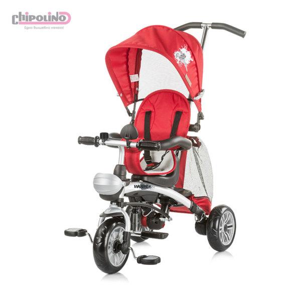 Chipolino - Триколка със сенник и родителски контрол Маверик червена