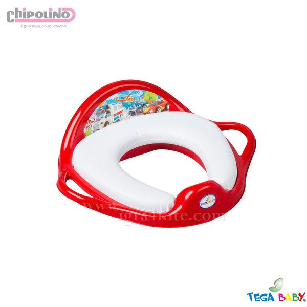 Chipolino - Бебешка мека седалка за тоалетна Коли червена