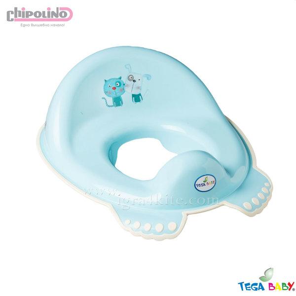 Chipolino - Седалка за тоалетна чиния Куче и Коте синя