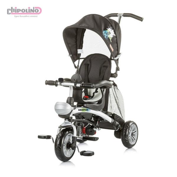Chipolino - Триколка със сенник и родителски контрол Маверик черна