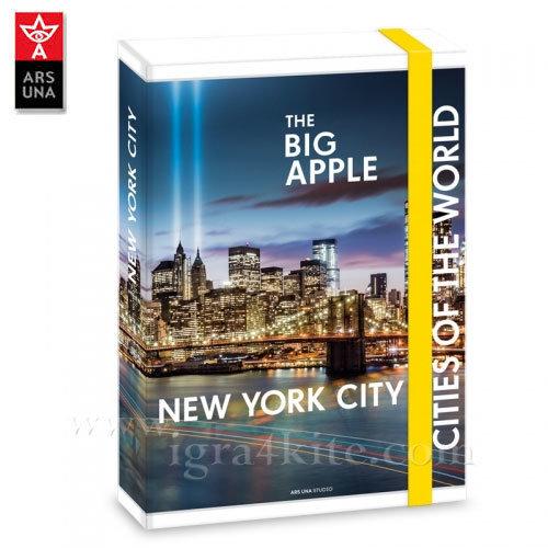 Ars Una - The Cities of the World Папка кутия с ластик А4 Ню Йорк Ars Una 90857768