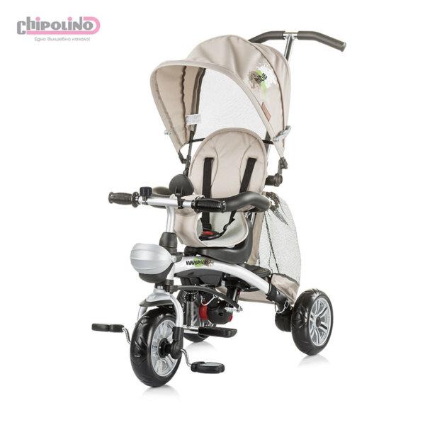 Chipolino - Триколка със сенник и родителски контрол Маверик бежова
