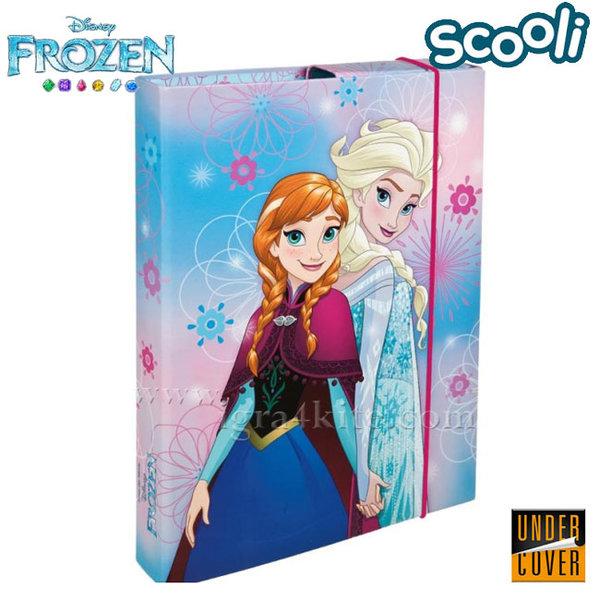 Scooli Disney Frozen - Детска папка кутия с ластик Замръзналото кралство 26370