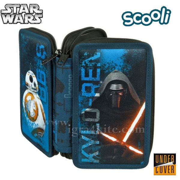 Scooli Star Wars - Ученически несесер 2 ципа, зареден Междузвездни войни 26310