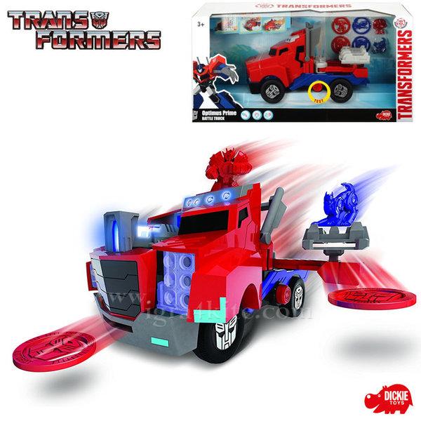 Simba Dickie Transformers - Трансформърс Оптимус Прайм Камион с изстрелващи се дискове 116003